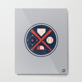 Baseball Basics Metal Print
