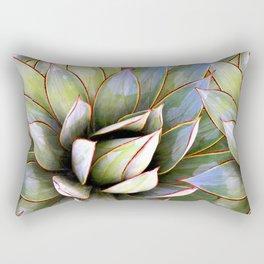 Succulent Nature Print Rectangular Pillow
