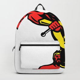 Typhon Holding Trident Mascot Color Backpack