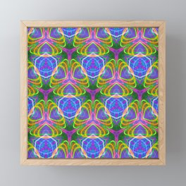 490.5 trippy tile Framed Mini Art Print
