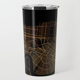 Black and gold New Orleans map Travel Mug