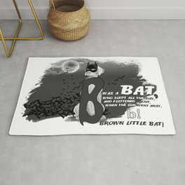 B IS FOR BAT Rug