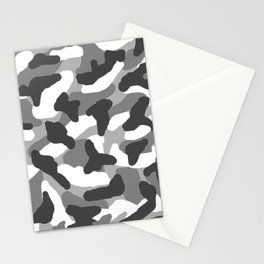 Grey Gray Camo Camouflage Stationery Cards
