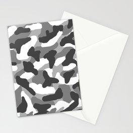 Grey Gray Camo Camouflage Stationery Cards