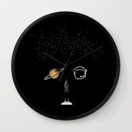 Astronaut | The world inside your head  Wall Clock