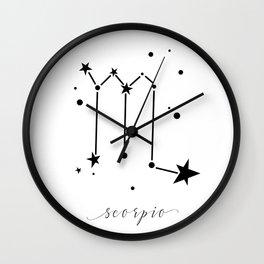 Scorpio Zodiac Sign Wall Clock