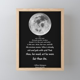 Moon Bridge Shakespeare Framed Mini Art Print