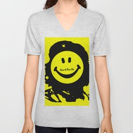 Have A Nice Che Funny Pop Culture Yellow Unisex V-Neck