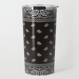 Paisley - Bandana - Black -  Southwestern Travel Mug