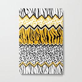 wild stripes pattern Metal Print