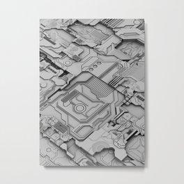 White Silicon Metal Print