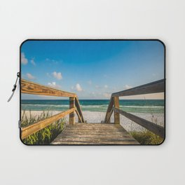 Head to the Beach - Boardwalk Leads to Summer Fun in Florida Laptop Sleeve