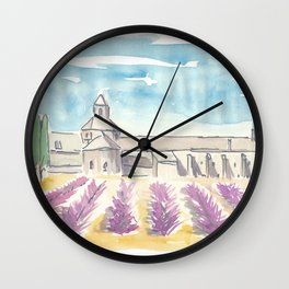 Provence Lavender and Abbey Wall Clock