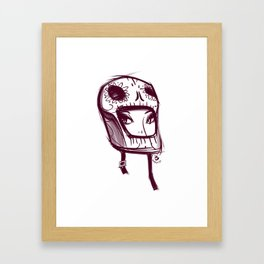 Skully Helmet Framed Art Print