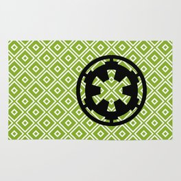 Imperial Cog in Black and Pea Green Rug