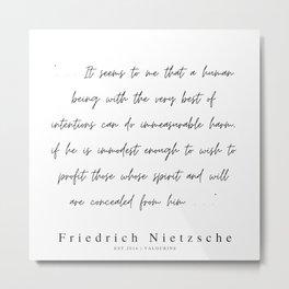 21        | 200319 |  Friedrich Nietzsche Quotes Metal Print
