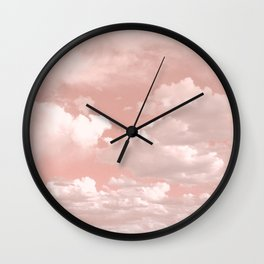 Clouds in a Peach Sky Wall Clock