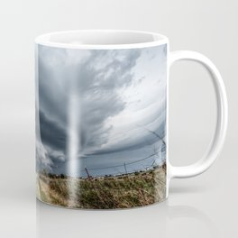 Mothership - Intense Autumn Storm Advances Over Oklahoma Plains Coffee Mug