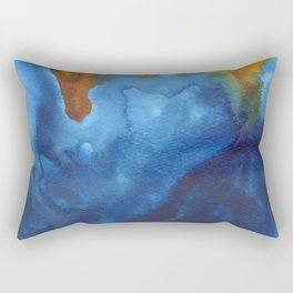 tie dye - the Earth: archipelago Rectangular Pillow