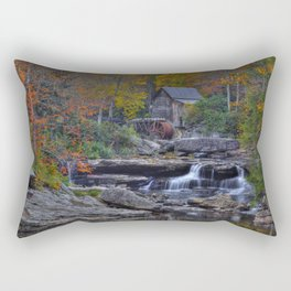 Glade Creek Grist Mill in Autumn Rectangular Pillow