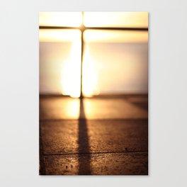 Bokeh Sunset Canvas Print