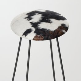 Brown Cowhide Counter Stool
