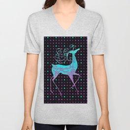 Deer REINDEER BLUE Unisex V-Neck