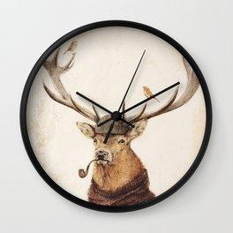 Thinking Wild Wall Clock