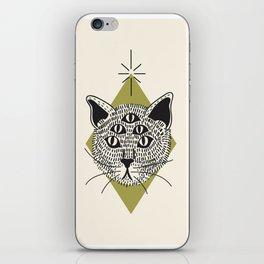 5 Eyed Cat iPhone Skin