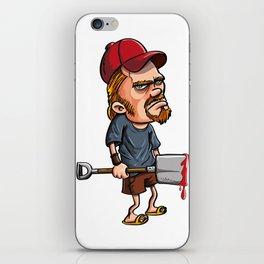 Redneck spade killer iPhone Skin
