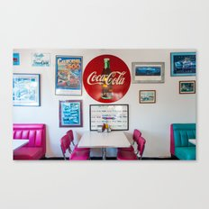 Diner Route 66 Canvas Print
