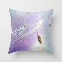 sparkle Throw Pillows featuring Sparkle by ALLY COXON