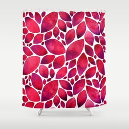 AUTUMN FOLIAGE - RED Shower Curtain