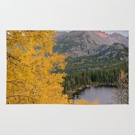 ROCKY MOUNTAIN AUTUMN PHOTO - COLORADO NATIONAL PARK BEAR LAKE IMAGE- LANDSCAPE NATURE PHOTOGRAPHY Rug