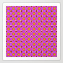 Glo-Dots! Art Print