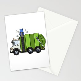 Recycle Truck Stationery Cards