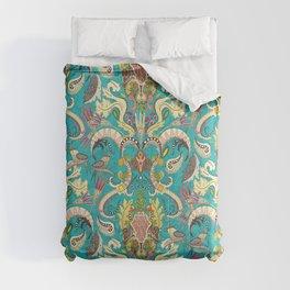 boho rococo turquoise Comforters