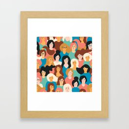 CUTE ALL-OVER WOMENS MARCH PATTERN Framed Art Print