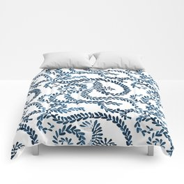 Mexican Talavera inspired pattern Comforters