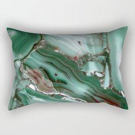 Luxury Malachite Marble Agate Rectangular Pillow