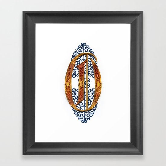 O - MONOGRAM Framed Art Print