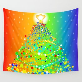 Ribbon Christmas Tree Wall Tapestry