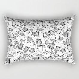Cactus 63 black & white Rectangular Pillow