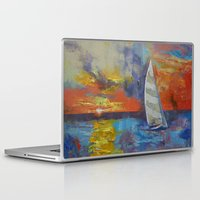 sailboat Laptop & iPad Skins featuring Sailboat by Michael Creese