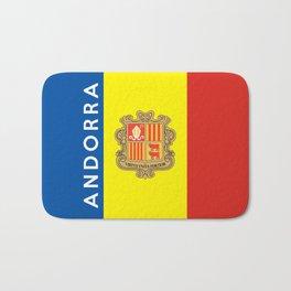 Andorra country flag name text Bath Mat