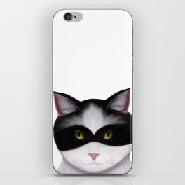 They call me the Masked Cat iPhone Skin