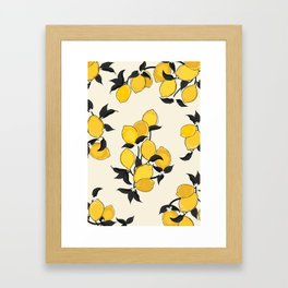 When life gives you lemons... Framed Art Print