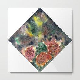 Galactic Roses Metal Print