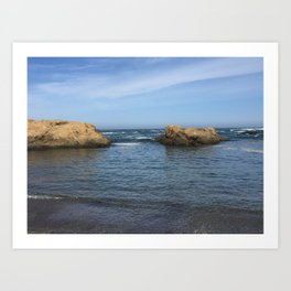 Fort Bragg ocean with rocks Art Print