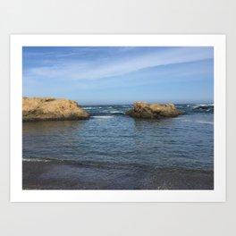 Fort Bragg ocean with rocks Art Print